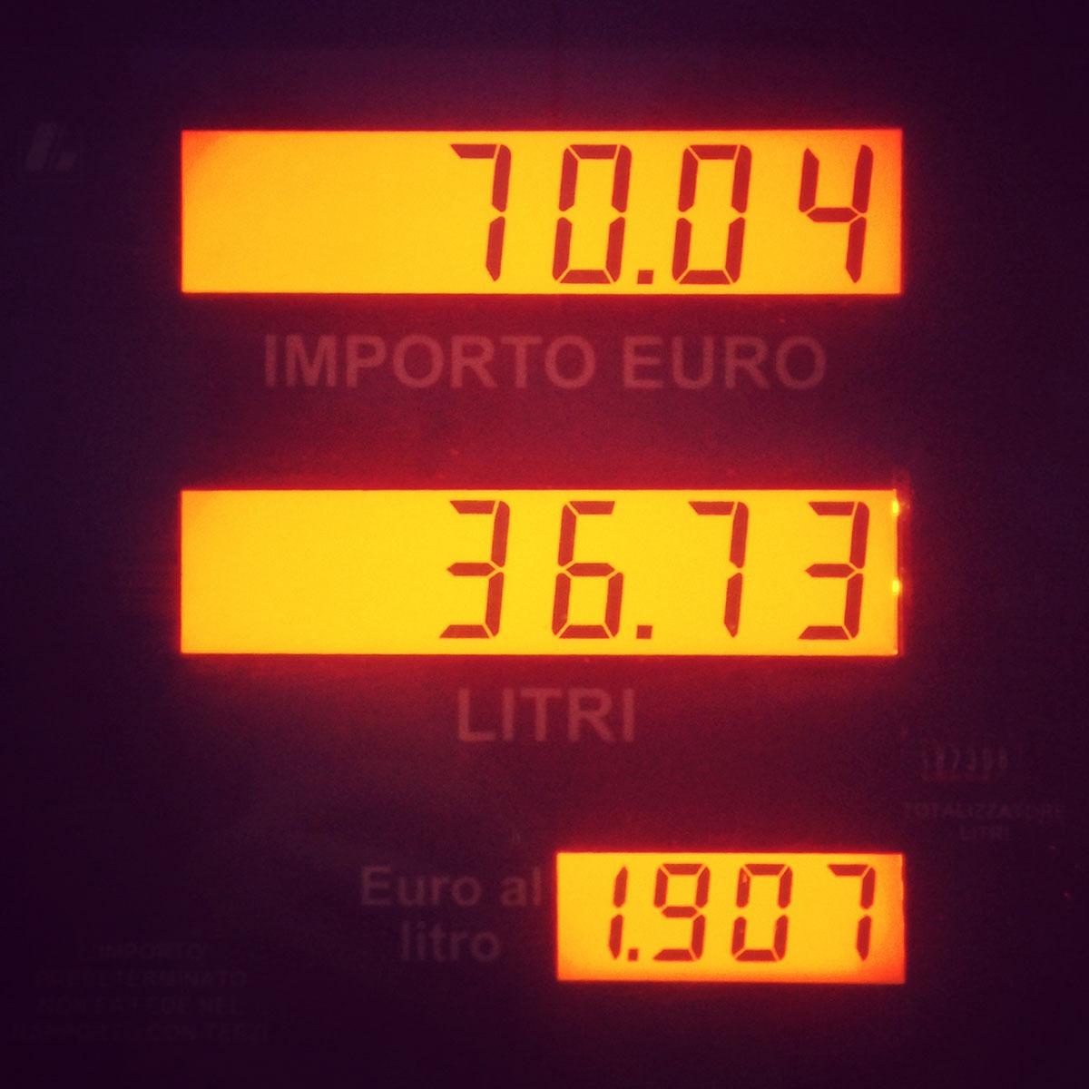 Tanken in Italien