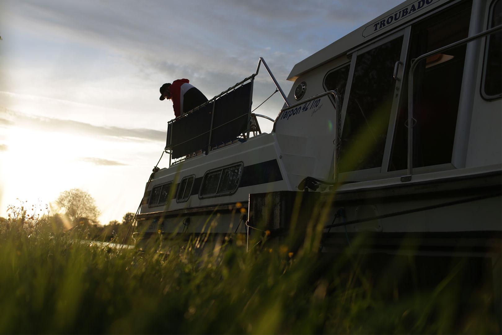 Hausboot anlegen