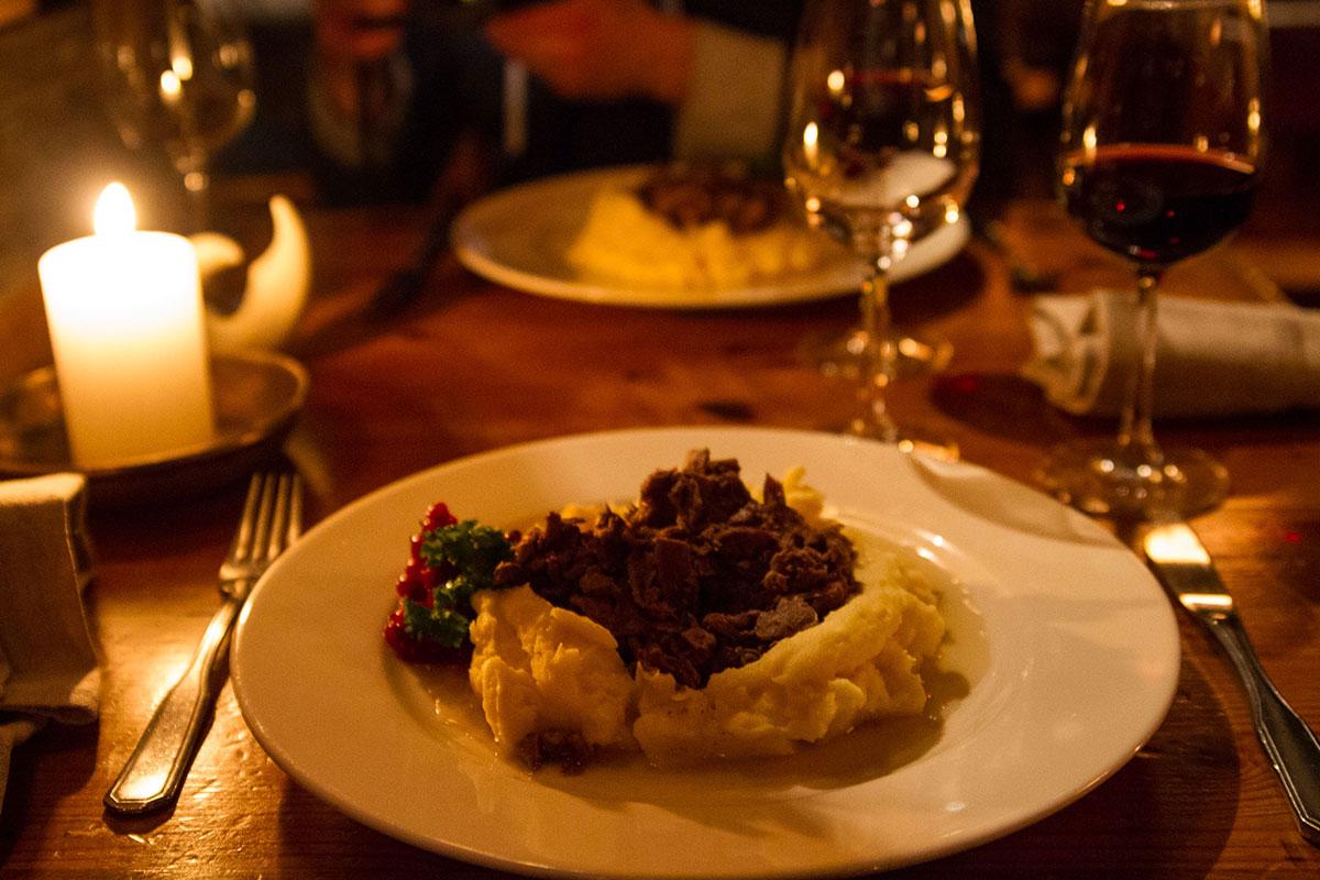Traditionelles lappisches Essen