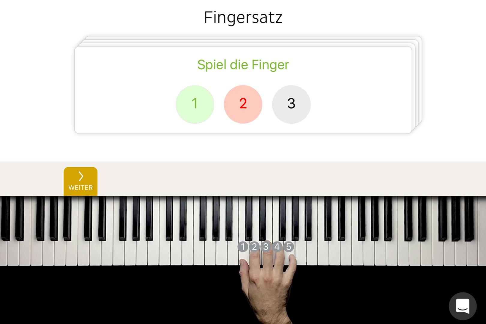 Fingersatz Klavier App