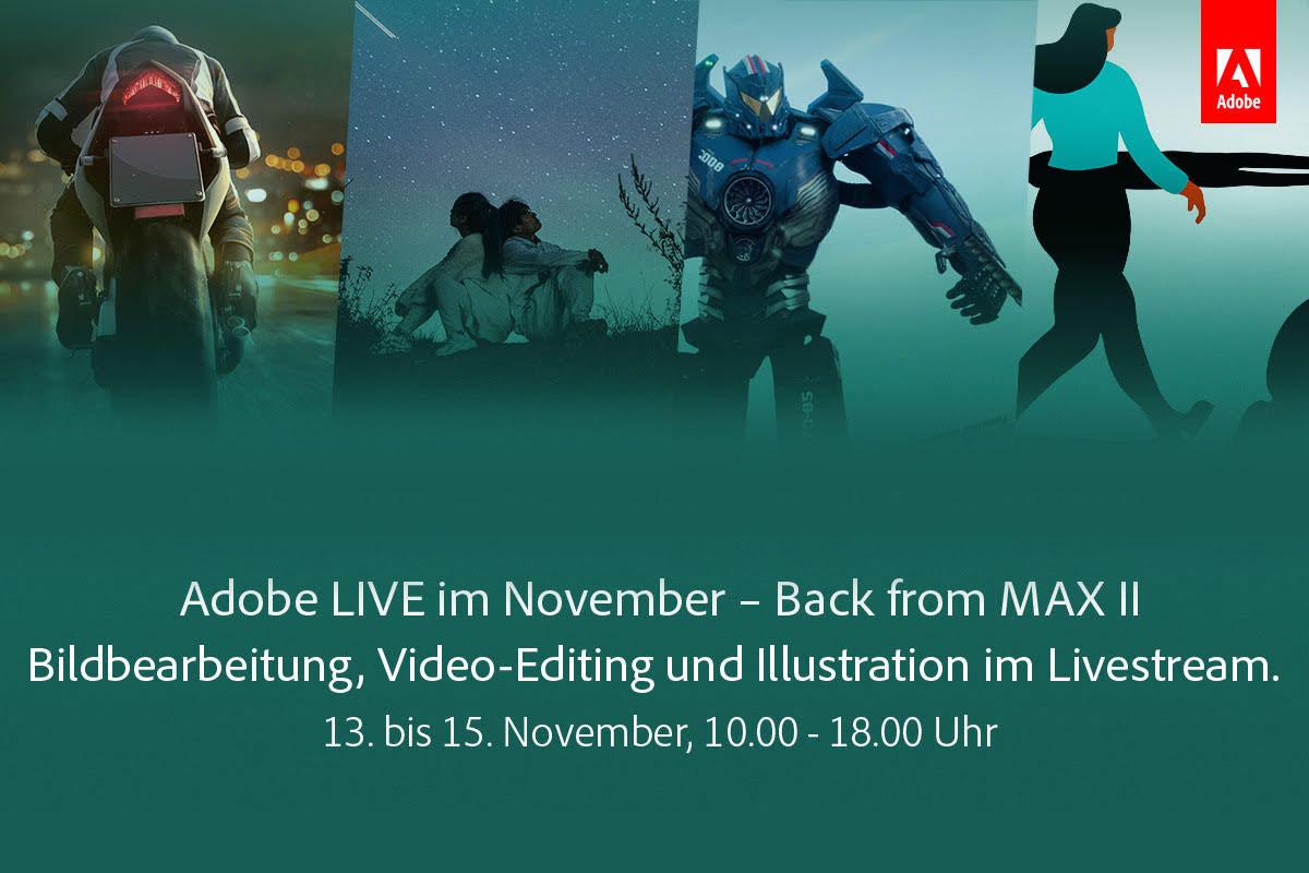Schaue Kreativen über die Schulter und spüre den Spirit der Adobe MAX mit dem neuen Portal Adobe LIVE