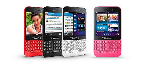 BlackBerry Q5 in verschiedenen Farben