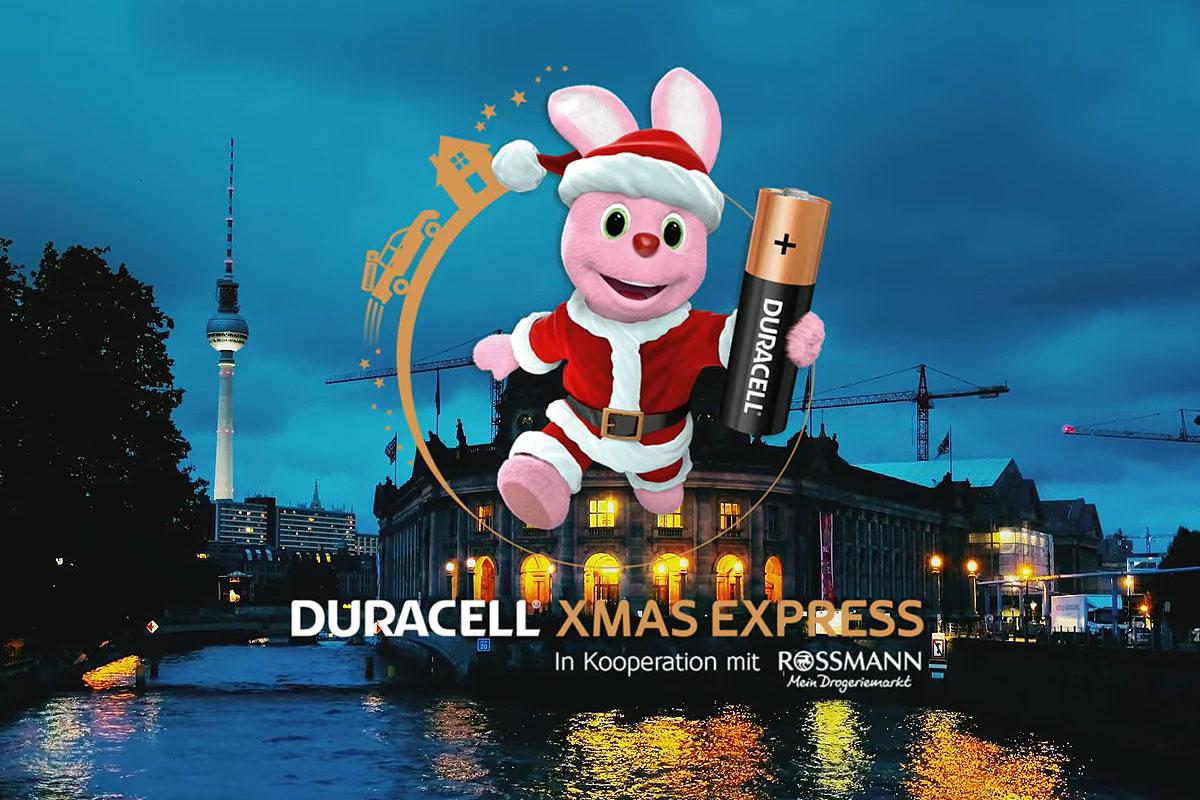 Damit Weihnachten nicht der Saft ausgeht – Der XMAS EXPRESS von Duracell