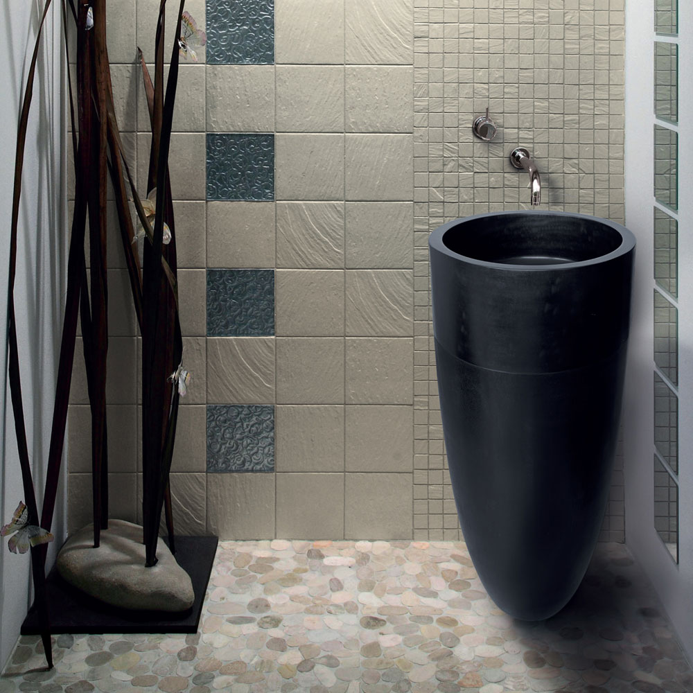 Designer-Waschbecken aus Naturstein