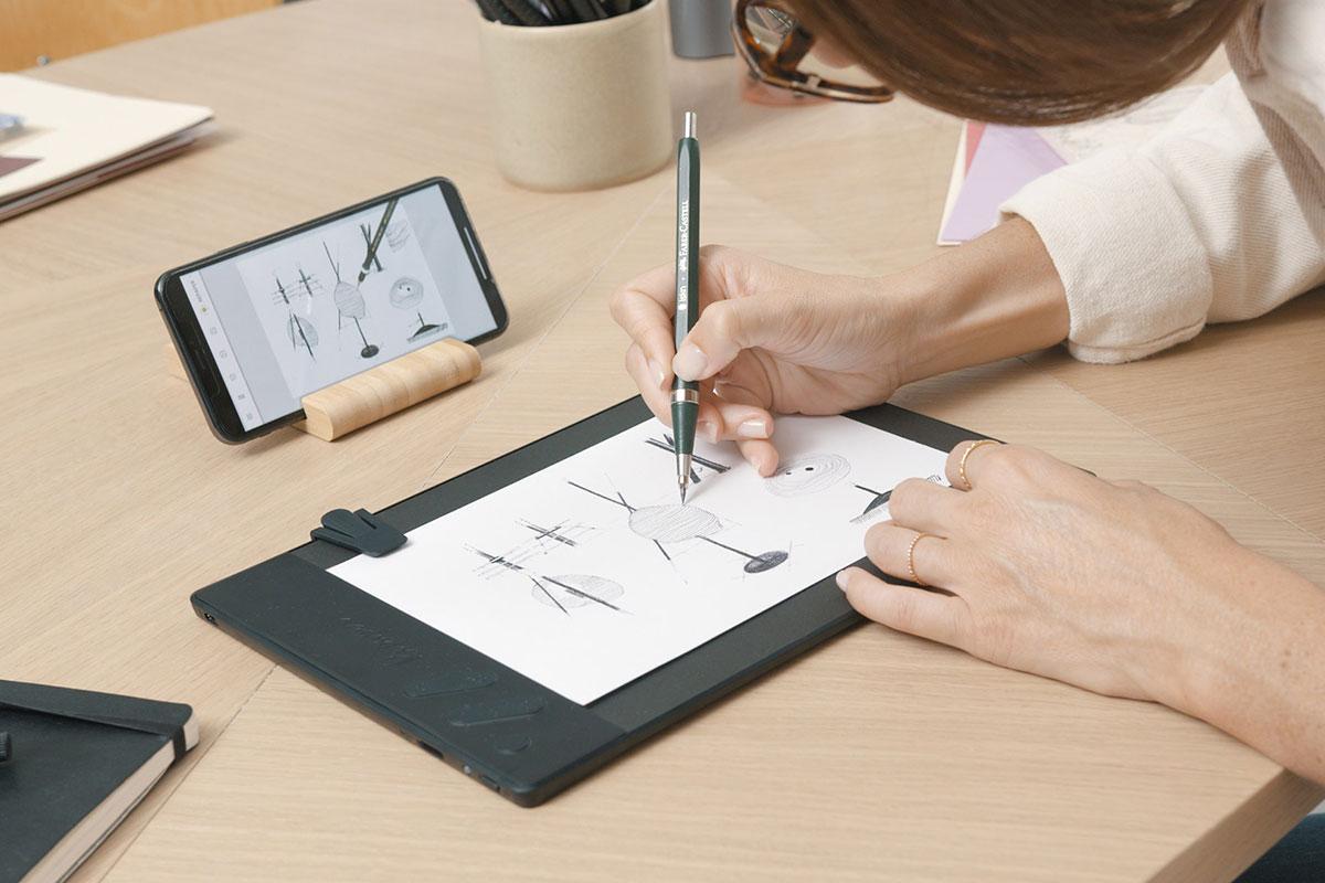 So einfach wie Papier und Stift. Das Repaper Grafiktablett modernisiert deinen Lieblingsstift.
