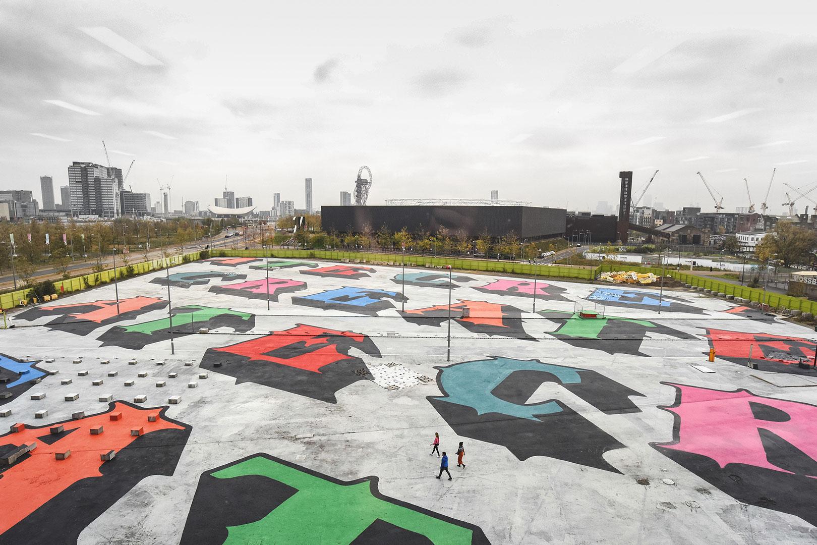 Das 17.500 Quadratmeter große Kunstwerk in East London