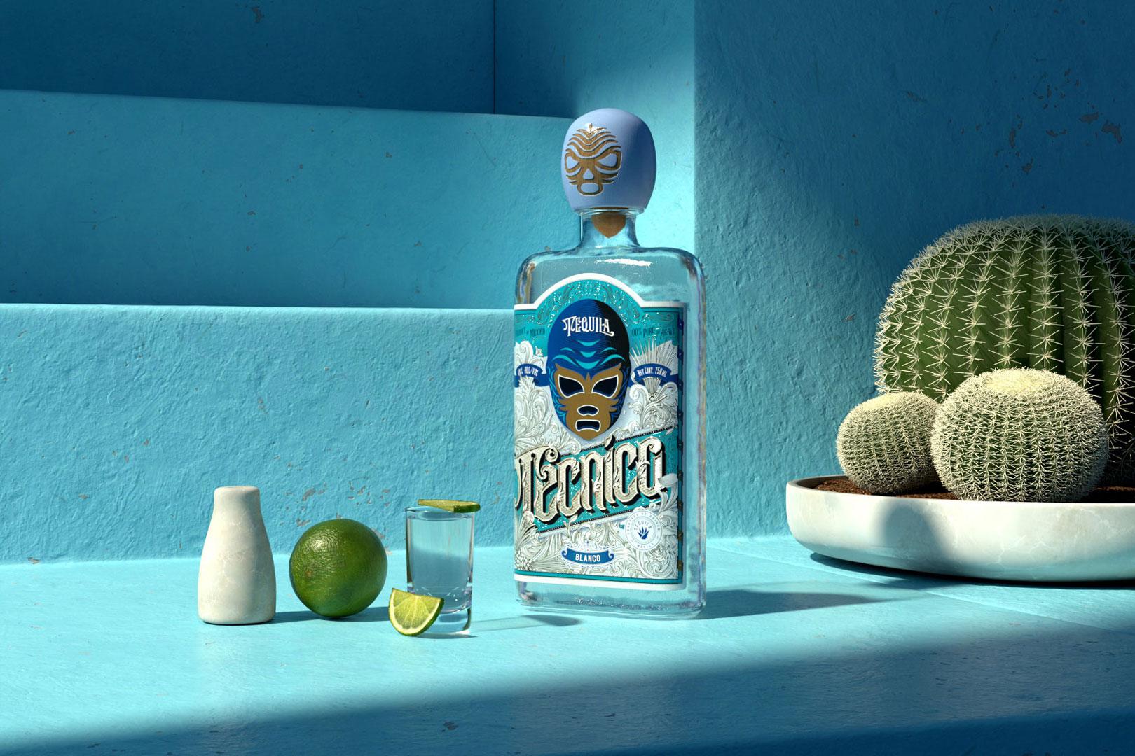 Silberner Tequila Tecnico