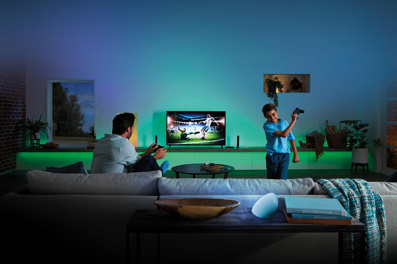 Synchronisierte Surround Beleuchtung für dein Wohnzimmer