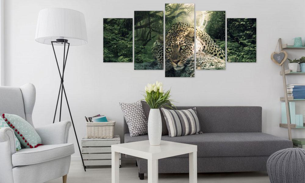 Wildkatze Wandbild mehrteilig